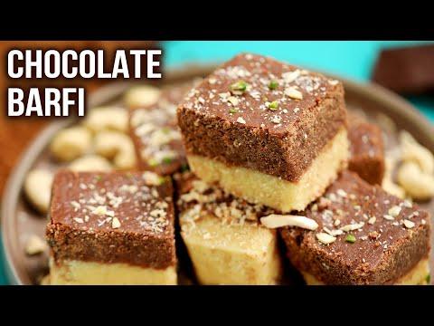 Chocolate Barfi   How To Make Chocolate Barfi   MOTHER'S RECIPE   Two Layer Barfi   Easy Sweet Ideas