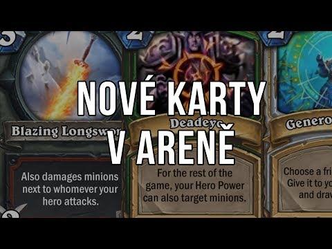 Nové karty v Aréně