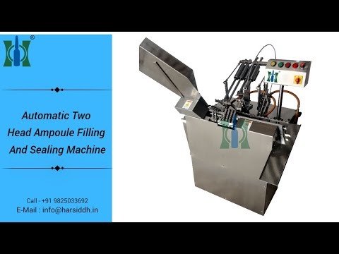 Two Head Injectable Ampoule Filling Sealing Machine