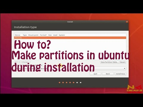 How to make partitions in Ubuntu during installation