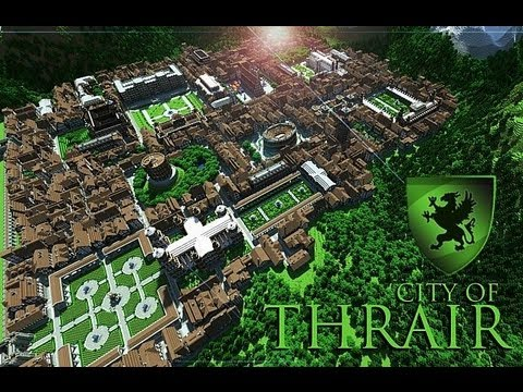 CITY OF THRAIR Medieval / Fantasy city with 500 buildings! Minecraft Map