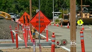 TRAFFIC HEADACHES:  Mill Valley residents wrestle with the impact of road improvement construction