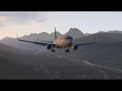 X-Plane 11) Zurich to Innsbruck - Boeing 737-800! - игровое