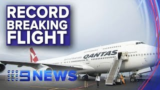 Qantas lands historic long-haul flight from London to Sydney | Nine News Australia