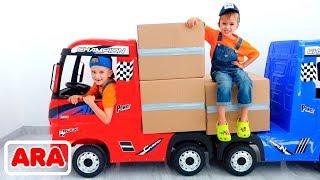 فلاد ونيكيتا قصص مضحكة مع سيارات   مجموعة مقاطع فيديو للأطفال