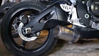 Suzuki GSX-R and Exhaust TWO BROTHERS
