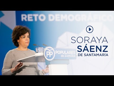 """Soraya Sáenz de Santamaría: """"El empleo es fundamental para que pueda seguir habiendo prosperidad y futuro"""""""