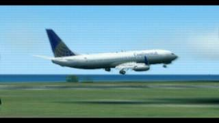 preview picture of video 'How NOT to land a 737-800'