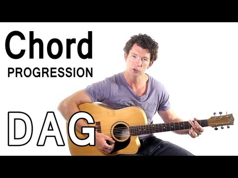 Beginner Guitar Chords 5 - Strumming D, A, and G in a Chord Progression