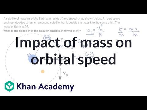 Impact of mass on orbital speed (video) | Khan Academy