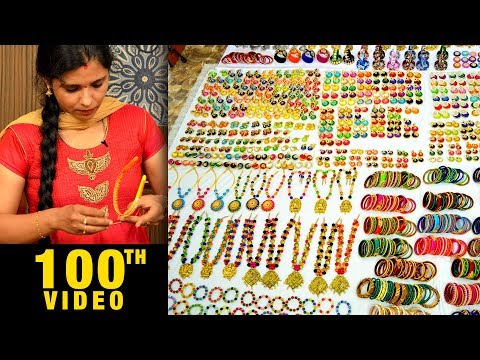 Mega Jewelry Collection   Silk Thread Necklaces   Bangles   Earrings   wholesale Factory   #DIY