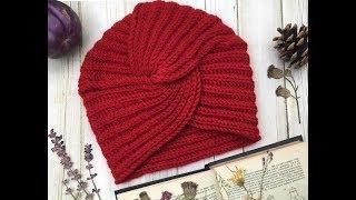 Tutorial  Cappello Turbante ai ferri e all uncinetto - spiegazione ... 4dc89526dcd