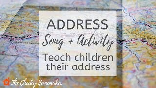 ADDRESS SONG | How To Teach Children Their Address | THE CHEEKY HOMEMAKER