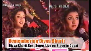 Remembering Divya Bharti   #DivyaBharti Best Songs Live on Stage in Dubai