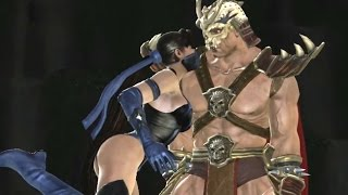 Mortal Kombat Vs DC Universe All Fatalities and Heroic Brutalities on Shao Kahn