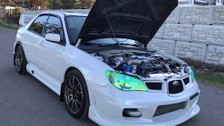 2007 Subaru Impreza WRX Garrett GT3071 Turbo 350HP Heavily Modified Engine Walk around Video