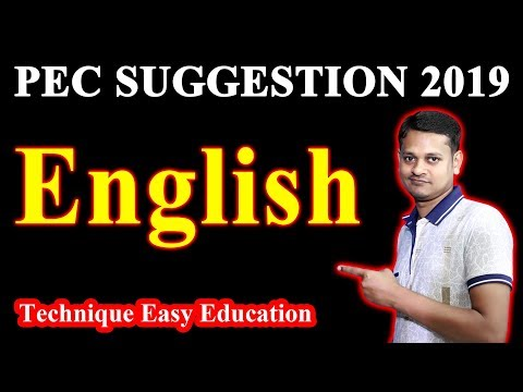 PEC English Suggestion 2019    পিইসি ইংরেজি সাজেশন    PSC English Suggestion    পিএসসি ইংরেজি সাজেশন
