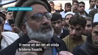 Muslimer som stöttar terrorist-attacken på Charlie Hebdo