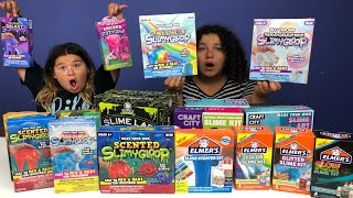 MIXING ALL OUR SLIME KITS TOGETHER - SLIME KIT SLIME SMOOTHIE