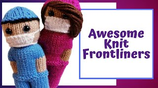 Honoring Brave COVID-19 Workers With Quick And Easy Free Knitting Pattern Project