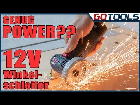 12V Bosch Akku Winkelschleifer - GWS 12V-76 - schneiden in Holz, Metall und Fliesen kein Problem!
