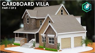 How To Make A BEAUTIFUL MANSION House From Cardboard | European Country House Project Part 1