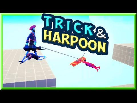 Trick & Harpoon! #1 Jester🃏 and Harpooner vs Every Faction 2v1 + Bonus - TABS MODS GAMEPALAY