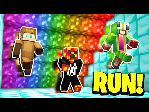 Minecraft RUN FROM THE RAINBOW LAVA! w/ UnspeakableGaming & MooseCraft
