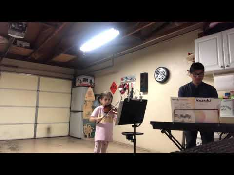 My violin student playing gavotte.