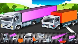 Cars Puzzle for Toddlers: Transport Puzzle for Kids - Police Car, Truck, Excavator | Videos for KIDS