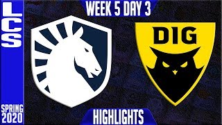TL vs DIG Highlights | LCS Spring 2020 W5D3 | Team Liquid vs Dignitas