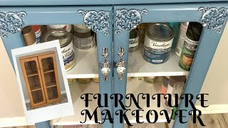 Furniture Makeover | How I Used Chalk Paint, Moulds And Gilding Wax To Transform A Plain Cabinet