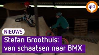 Schaatskampioen Stefan Groothuis bouwde zijn eigen BMX-baan
