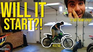 KX250 BUILD GOES WRONG! Almost had to go to the EMERGENCY ROOM!