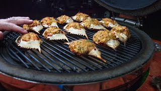 Stuffed Blue Crabs Recipe ~ Cooked On A Grill!