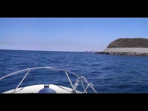 YAMAHAスターエースARCTURUS号東京湾 第二海堡から第一海堡北側へ回り込む2