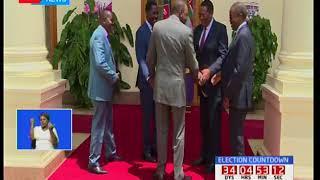 Rais Uhuru Kenyatta akutana na aliyekuwa gavana wa Meru Peter Munya katika ikulu