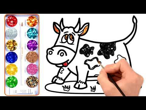 Video Cara Menggambar Mewarnai Sapi Mewarnai Binatang Guru