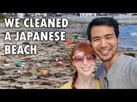 Who knew Japan had such badly trashed beaches? #trashtag
