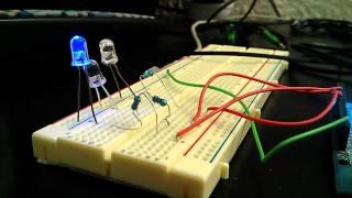Fade 3 LEDs arduino