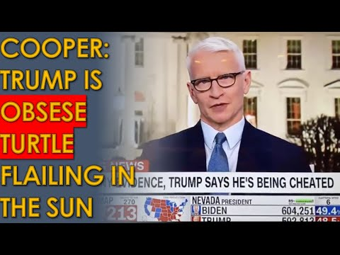 "Anderson Cooper: Trump an ""obese turtle on his back, flailing in the hot sun"""