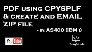 PDF using CPYSPLF and create ZIP file in AS400
