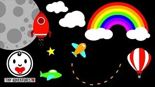 Baby Sensory | Things that fly (Infant Visual Stimulation Video for Baby)