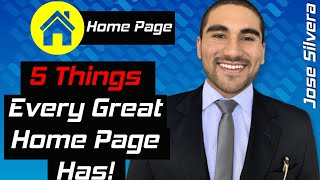 5 THINGS EVERY GREAT HOME PAGE HAS!