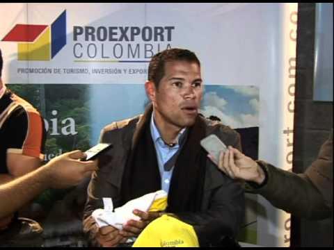 Óscar Córdoba promociona Colombia durante la Copa América 2011 en Argentina