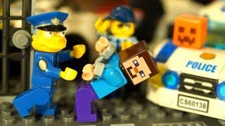 НУБ МАЙНКРАФТ против ЛЕГО Полиция Хэллоуин Мультфильмы Лего Мультики Видео для Детей