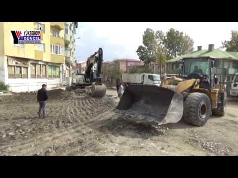 Yüksekova'da Yol Yapım Çalışmalarına Başlandı