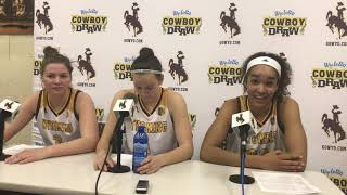 Wyoming women's basketball players -- Pepperdine postgame