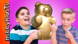 Giant GOLDEN Bear! Lolly And Pop Store Haul with HobbyKidsTV