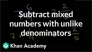 Adding subtracting mixed numbers 1 (ex 2)